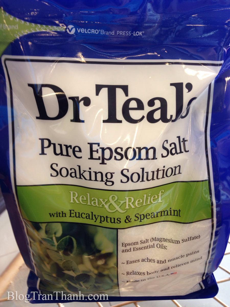 Muối tắm Epsom Dr Tea's - Bạc Hà & Bạch Đàn